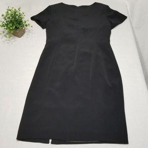 Talbots Size 6 Black Short Sleeve Shift Dress EE55